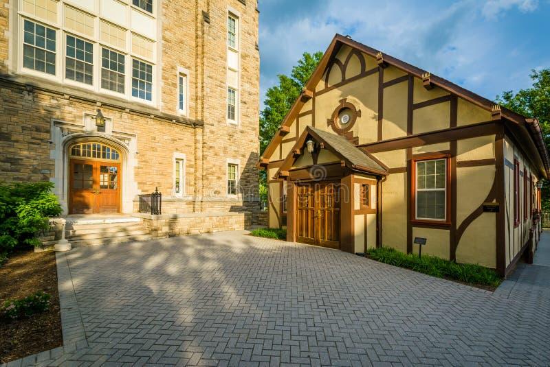 Xavier Hall in Loyola University Maryland, in Baltimore, Maryland stock afbeelding