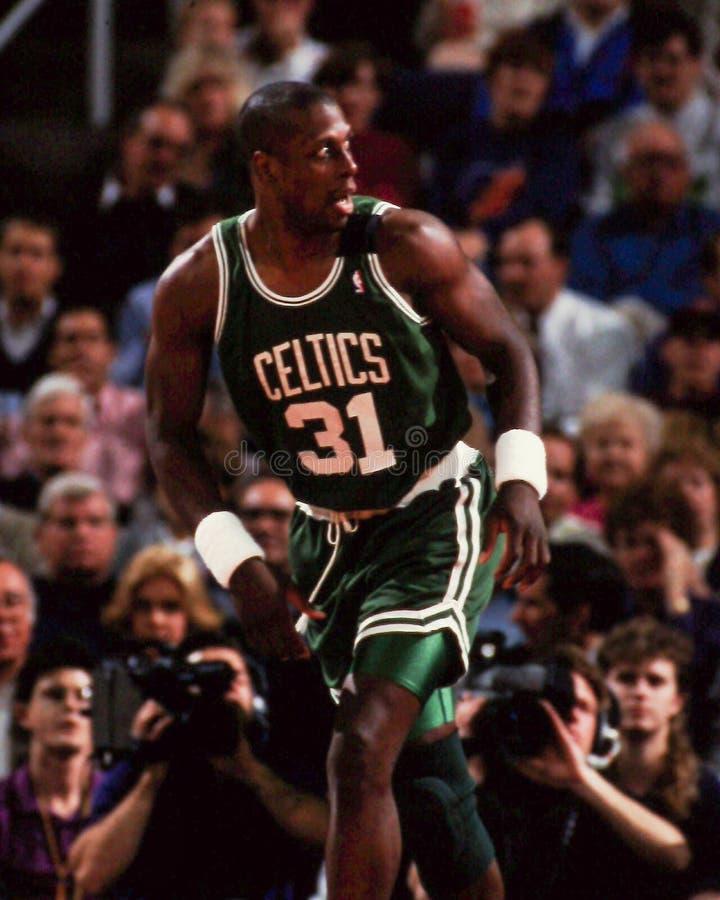 Xavier McDaniel, Boston Celtics immagine stock