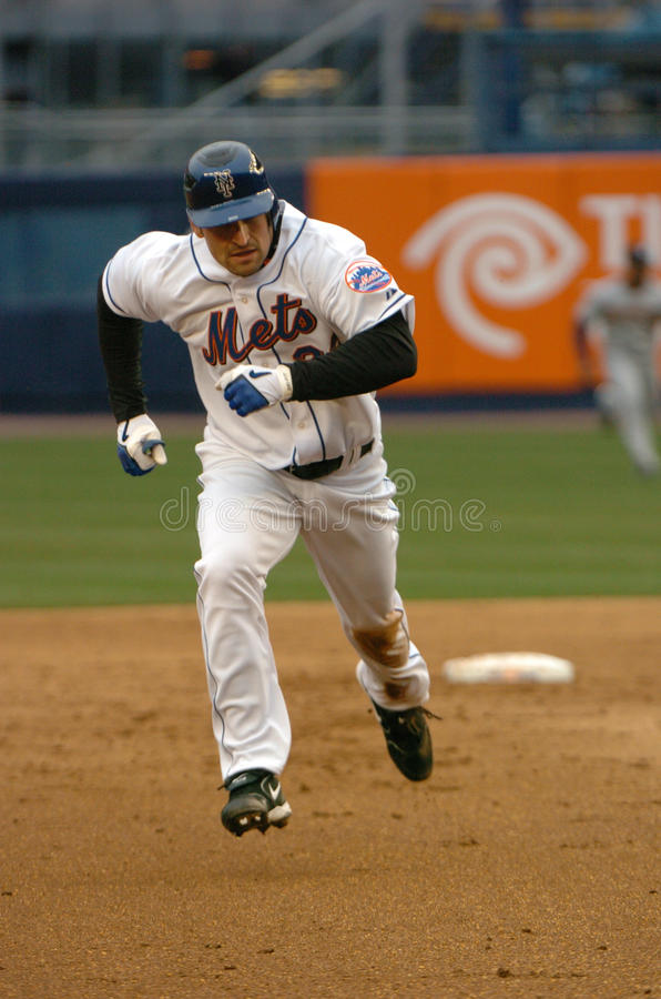 Xavier Nady, New York Mets royalty-vrije stock afbeeldingen