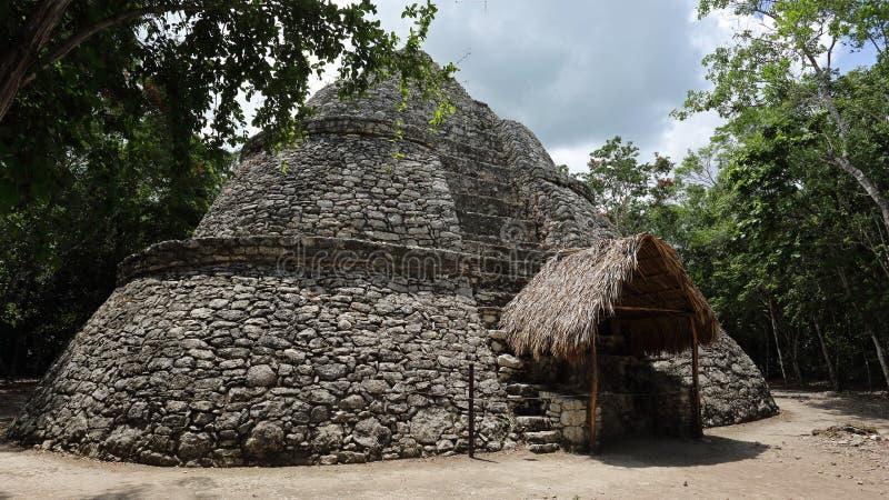 Xay ist Pyramide, Coba, Mexiko stockfotografie