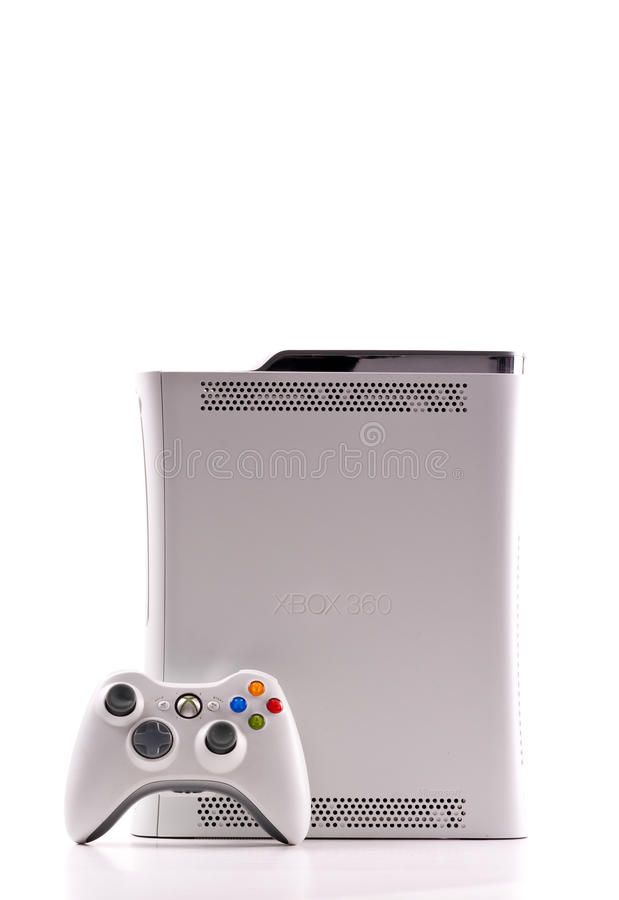 Xbox 360 door Microsoft stock foto
