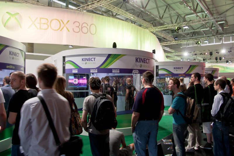 Download Xbox 360 And Kinect At Gamescom 2010 Editorial Stock Photo - Image: 15748633