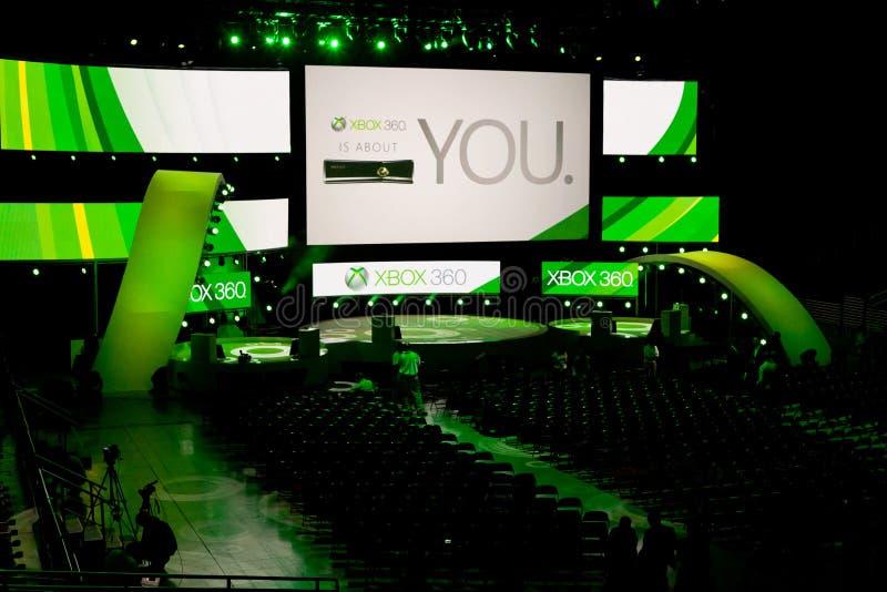 Xbox- 360Pressekonferenzstufe an E3 2011 lizenzfreie stockfotos