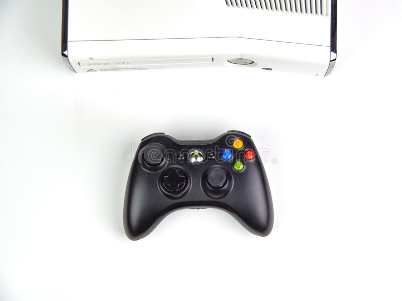 Xbox 360 video gaming console royalty free stock image