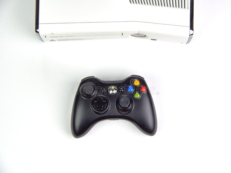 Xbox 360 video spela konsol royaltyfri bild