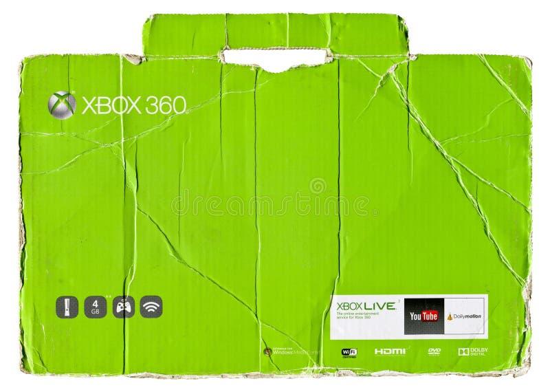 Xbox 360 zielony kartonowy pakować obrazy royalty free