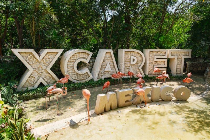 XCaret, известный парк экологического туризма на мексиканском майяском Ривьера стоковые фотографии rf