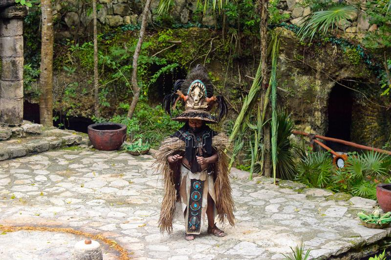 Mayan people in Mexico stock photography