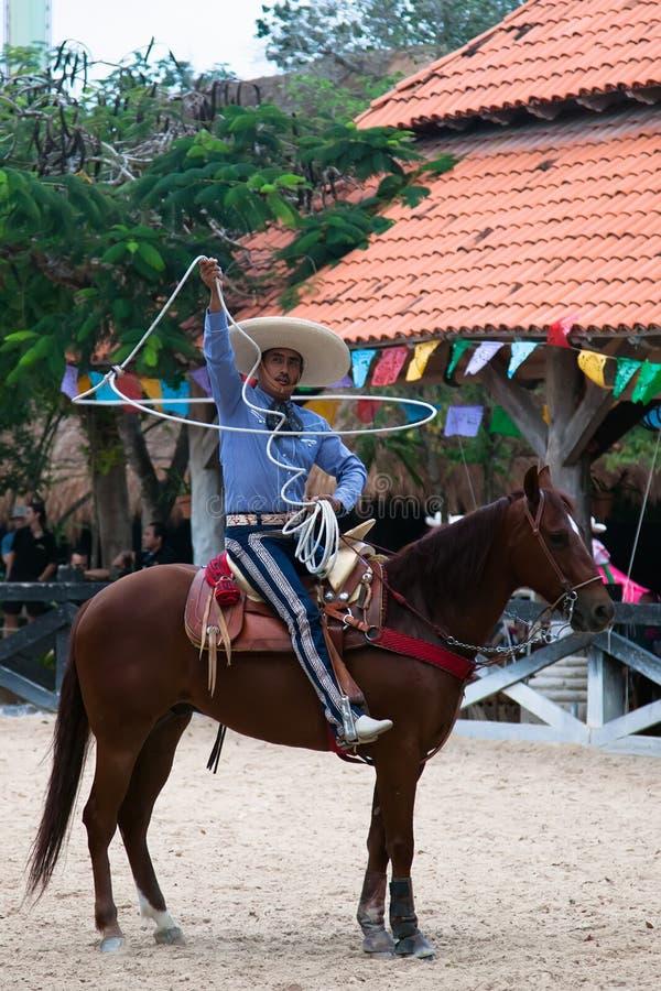 Xcaret Rodeo-Erscheinenausführender lizenzfreie stockbilder