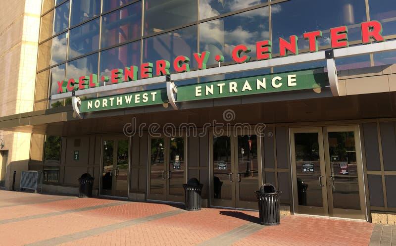 Xcel Energetycznego centrum St Paul Minnestoa obraz royalty free
