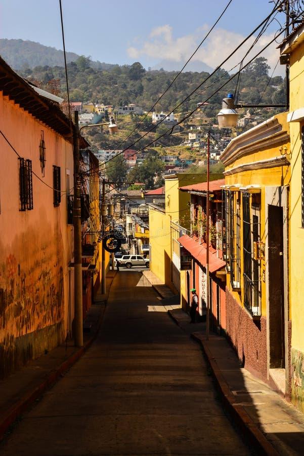 Xela,危地马拉Streetview  库存图片