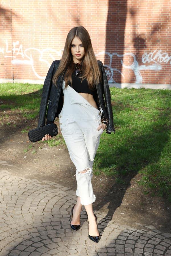 Free Xenia Tchoumitcheva Milano,milan Fashion Week Streetstyle Autumn Winter 2015 2016 Stock Photography - 50946192