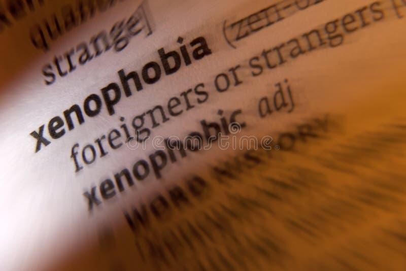 Xenofobia imagem de stock royalty free