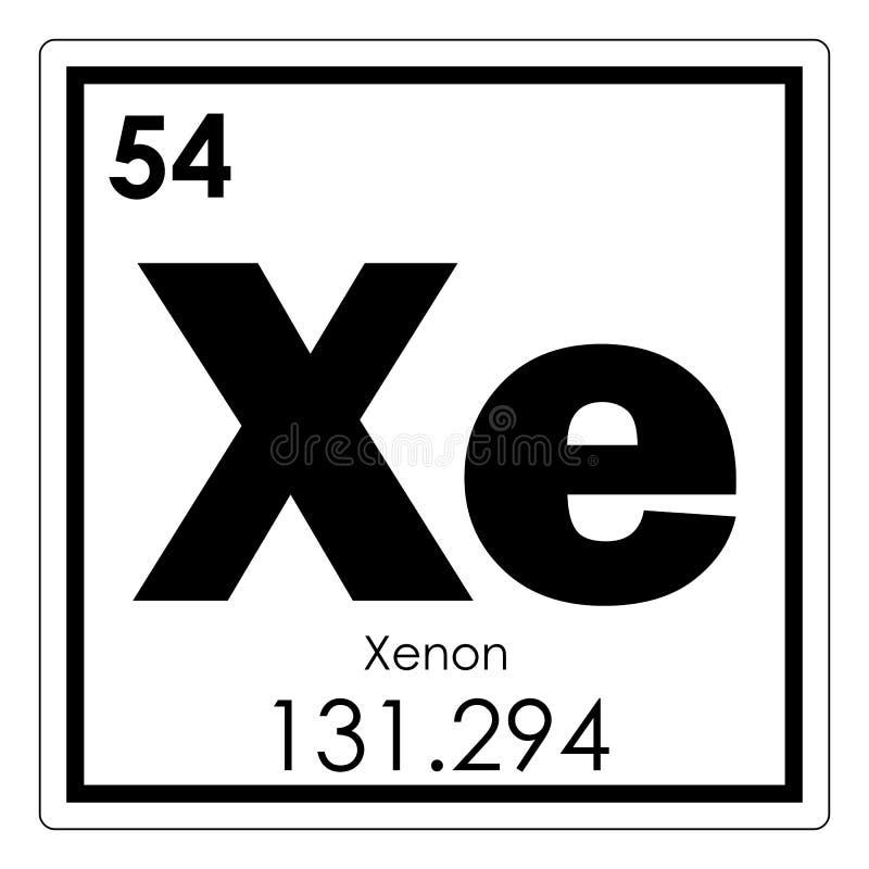 Xenon chemical element stock illustration