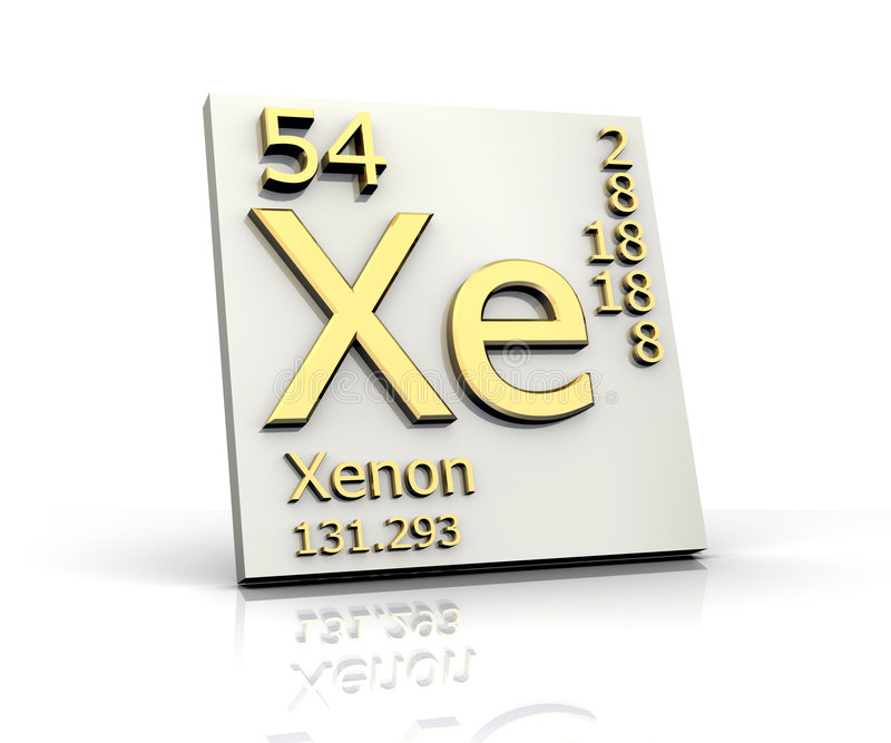 Download Xenon Form Periodic Table Of Elements Stock Photo - Image: 7917540