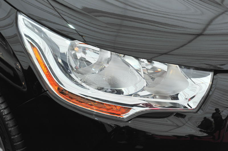 Head light. Xenon head light of a modern car stock images