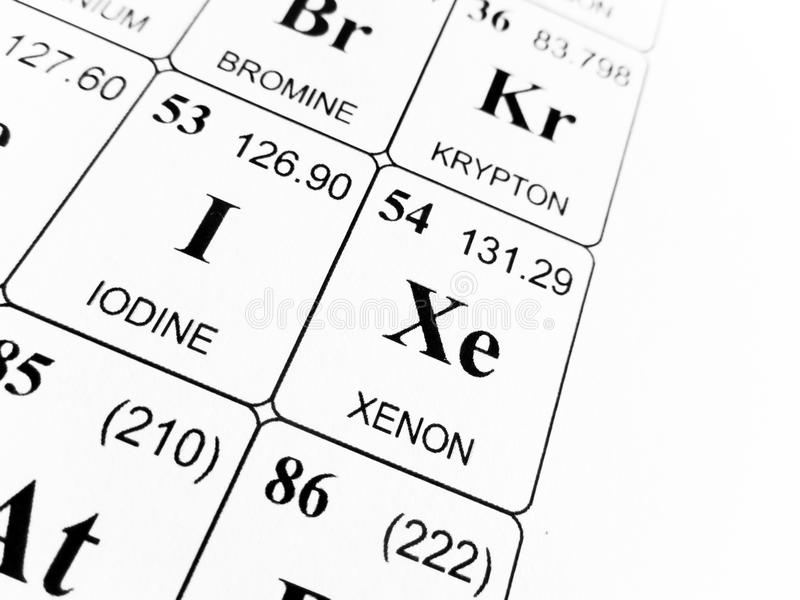 Periodic table xe gallery periodic table of elements list xenon on the periodic table of the elements stock image image of urtaz Image collections