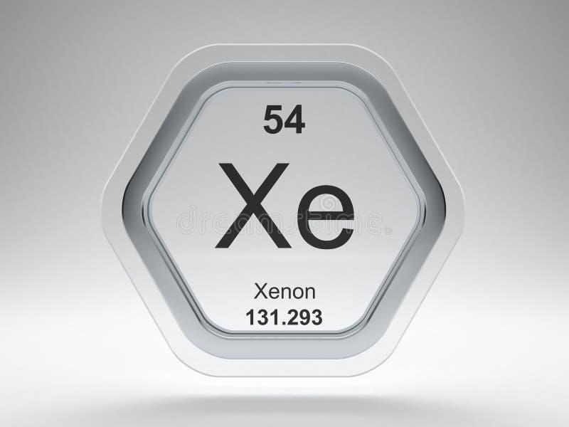 Xenon symbol hexagon frame royalty free illustration
