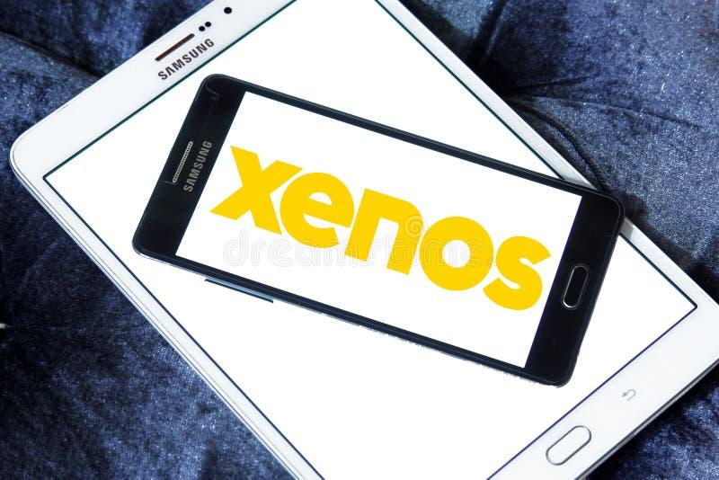 Xenos retailer logo. Logo of Xenos retailer on samsung mobile stock photos