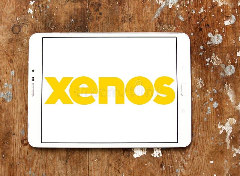 Xenos retailer logo. Logo of Xenos retailer on samsung tablet stock photos