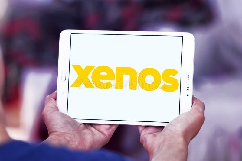 Xenos retailer logo. Logo of Xenos retailer on samsung tablet royalty free stock photo