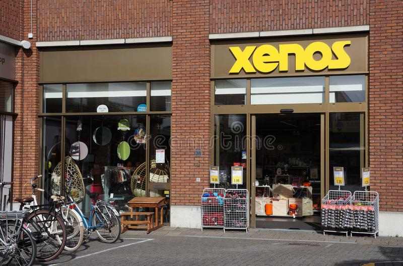 Xenos shop, the Netherlands. Berkel en Rodenrijs, the Netherlands. October 2018. Xenos brand store in the Netherlands royalty free stock photo