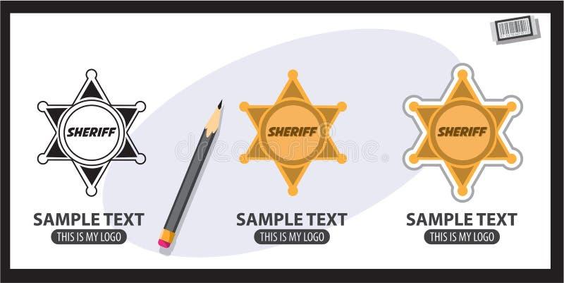 Xerife Badge ilustração do vetor