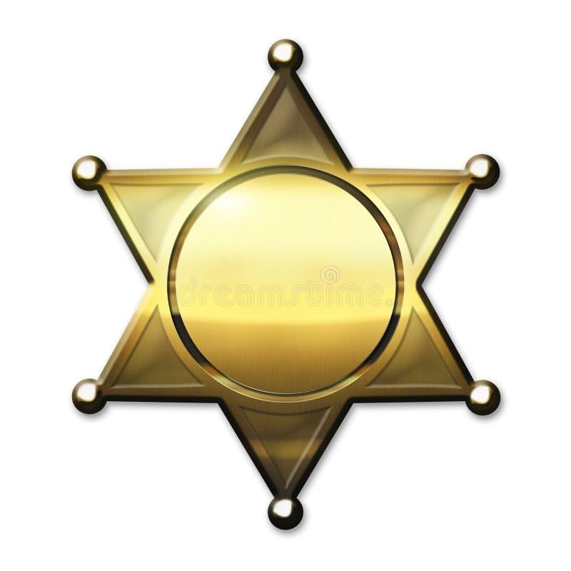 Xerife dourado Badge ilustração do vetor