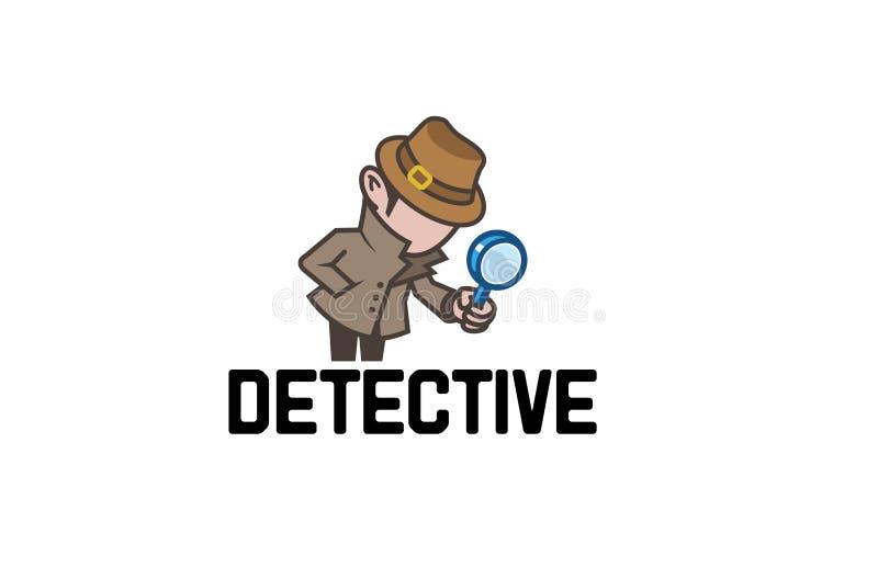 Xerife Logo do detetive ilustração stock