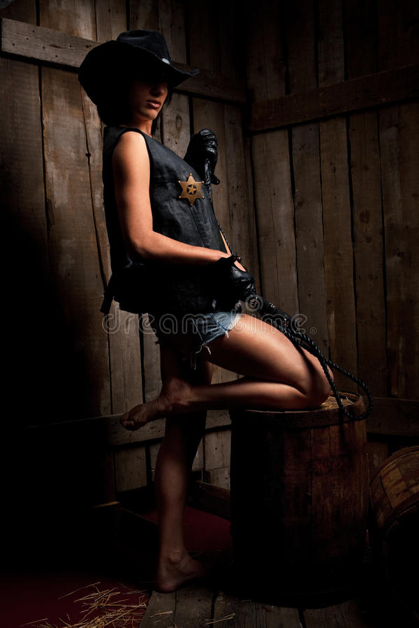 Xerife 'sexy' imagem de stock
