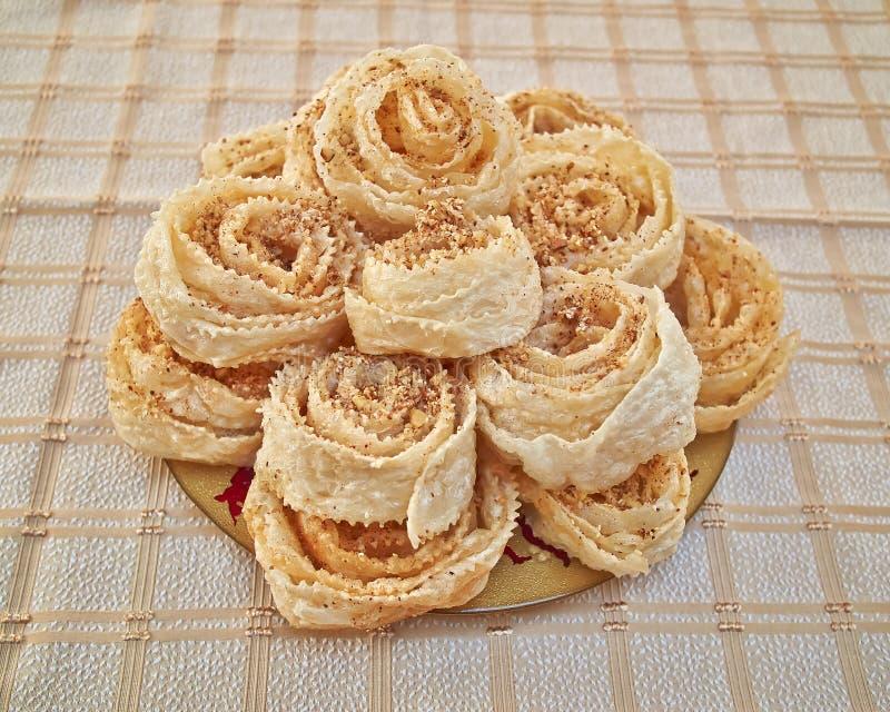 Xerotigana, círculo doce do Natal grego tradicional frita foto de stock