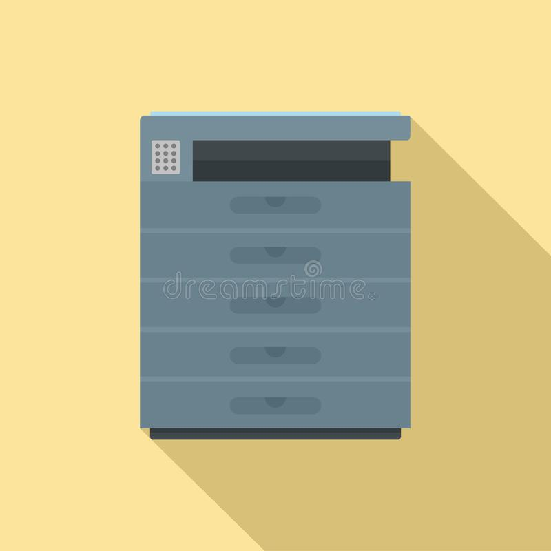 Xerox-Ikone, flache Art stock abbildung