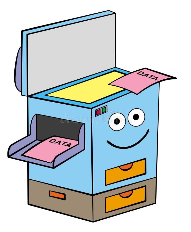 Xerox maskin stock illustrationer