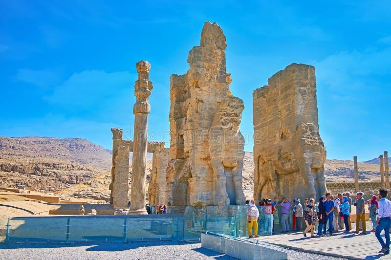 Xerxes Gate i Persepolis, Iran fotografering för bildbyråer