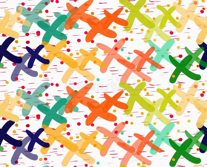 Xes Painted перекрывая с точками иллюстрация штока