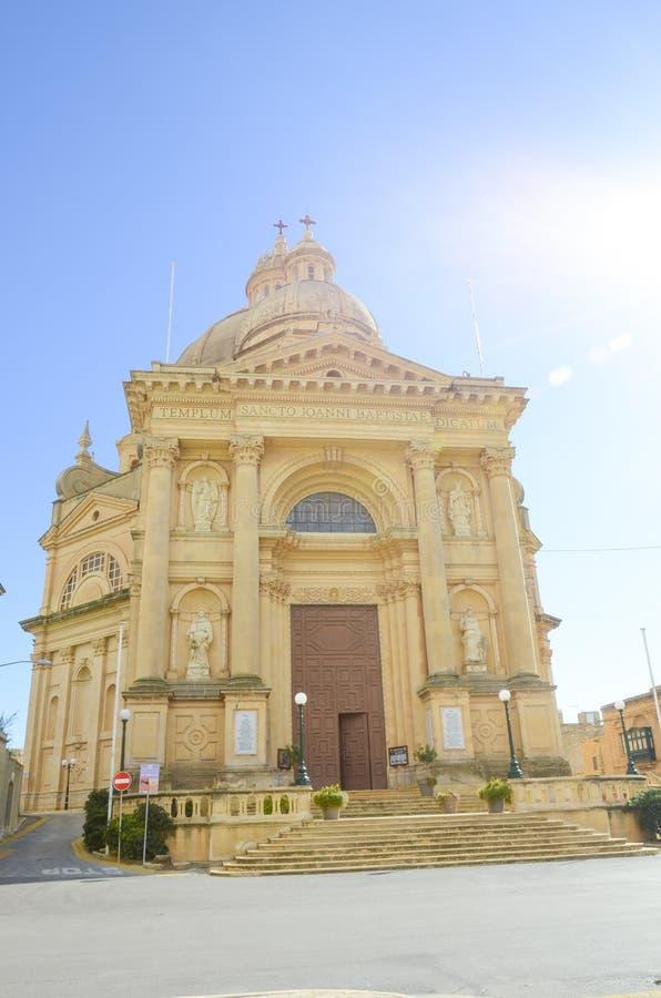 Xewkija forntida kyrka, Gozo, Malta royaltyfri bild