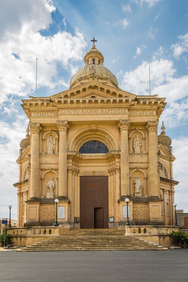 Xewkija rotundakyrka royaltyfri bild