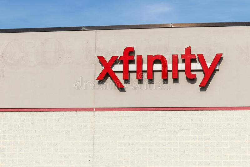 Hobart - Circa May 2018: Xfinity branded Comcast consumer retail store. Comcast is a Multinational Mass Media Company II. Xfinity branded Comcast consumer retail stock photos