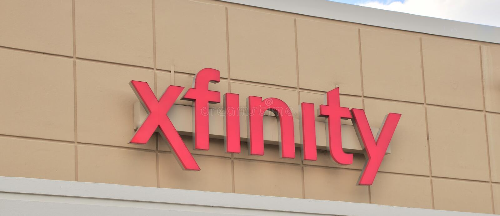 Xfinity from Comcast Sign. Comcast Cable Communications is the cable television division of Comcast. The division primarily markets its consumer-oriented royalty free stock photos