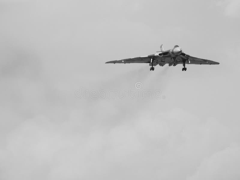 XH 558 el bombardero de Vulcan fotografía de archivo