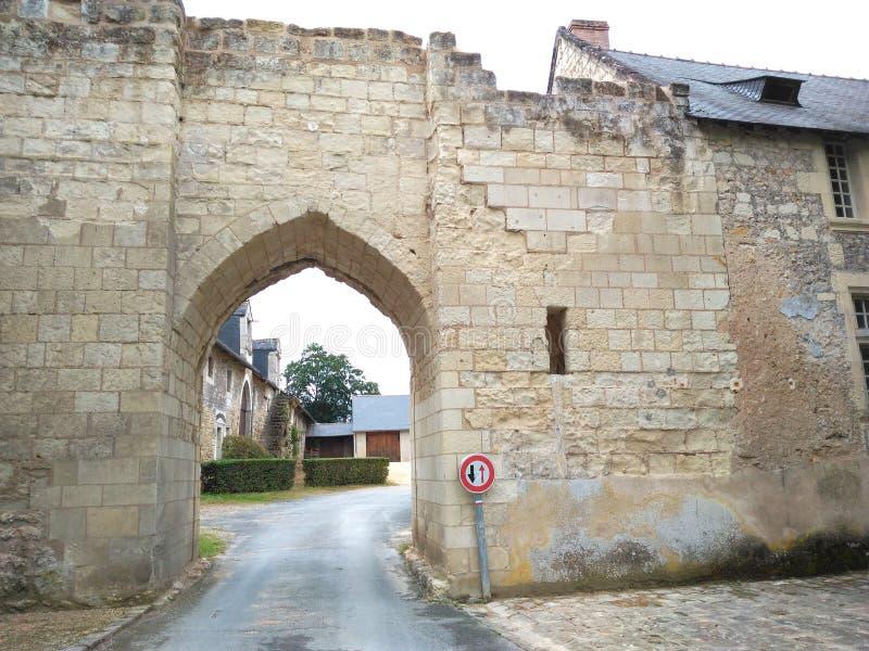 XI世纪城堡墙壁 图库摄影