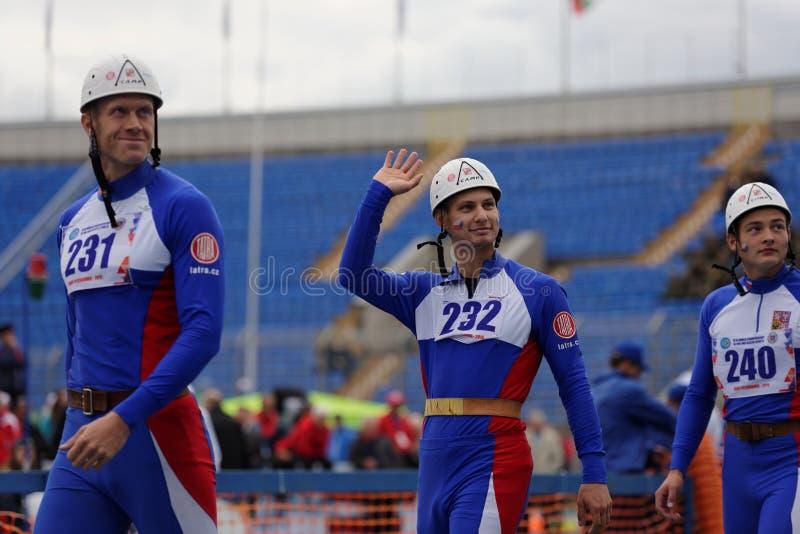 XI在火和抢救体育的世界冠军在圣彼德堡,俄罗斯 免版税库存图片