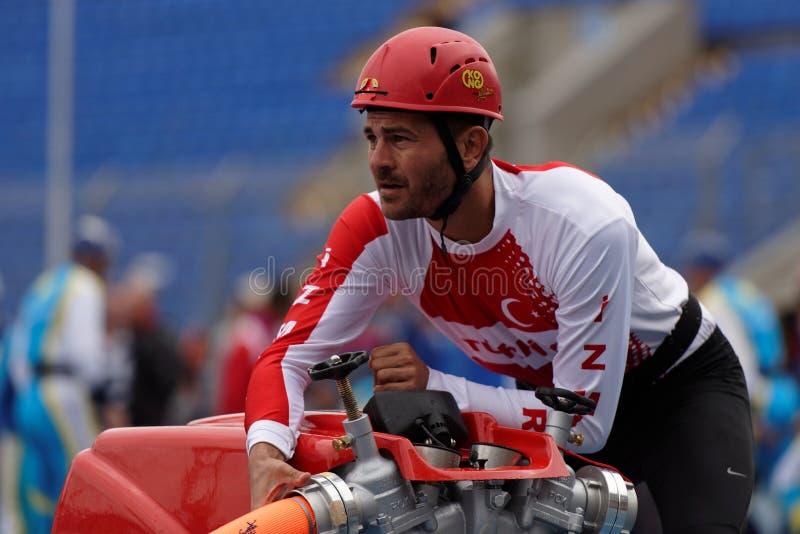 XI在火和抢救体育的世界冠军在圣彼德堡,俄罗斯 库存图片