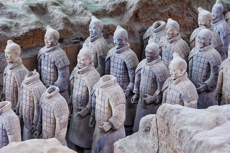 XI的`,中国的赤土陶器战士 库存图片