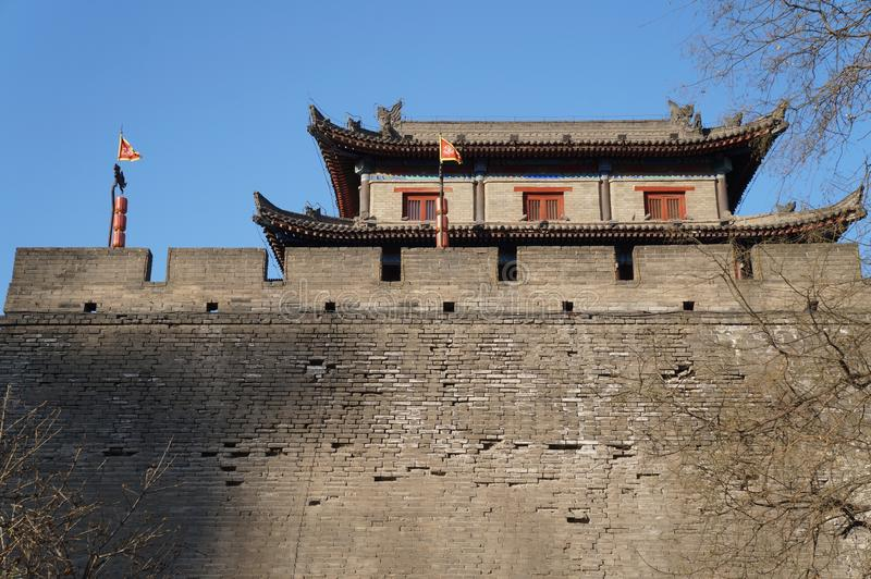 Xi `ένα τείχος πόλης και σκηνικό πόλης Αυτή είναι μια διάσημη τουριστική πόλη στοκ φωτογραφία με δικαίωμα ελεύθερης χρήσης