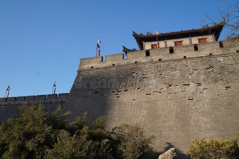Xi `ένα τείχος πόλης και σκηνικό πόλης Αυτή είναι μια διάσημη τουριστική πόλη στοκ εικόνες με δικαίωμα ελεύθερης χρήσης