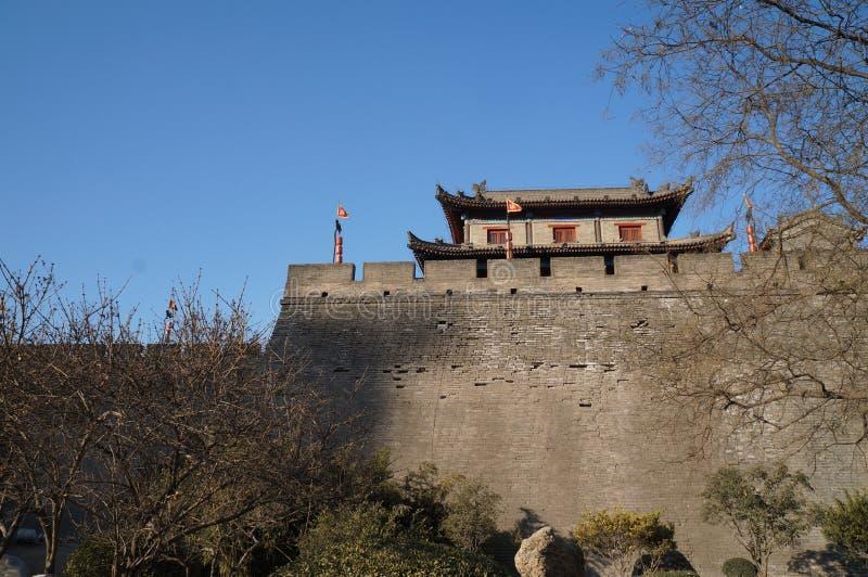 Xi `ένα τείχος πόλης και σκηνικό πόλης Αυτή είναι μια διάσημη τουριστική πόλη στοκ φωτογραφία