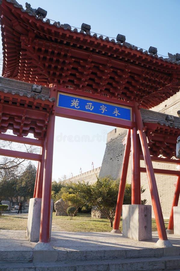 Xi `ένα τείχος πόλης και σκηνικό πόλης Αυτή είναι μια διάσημη τουριστική πόλη στοκ φωτογραφίες με δικαίωμα ελεύθερης χρήσης
