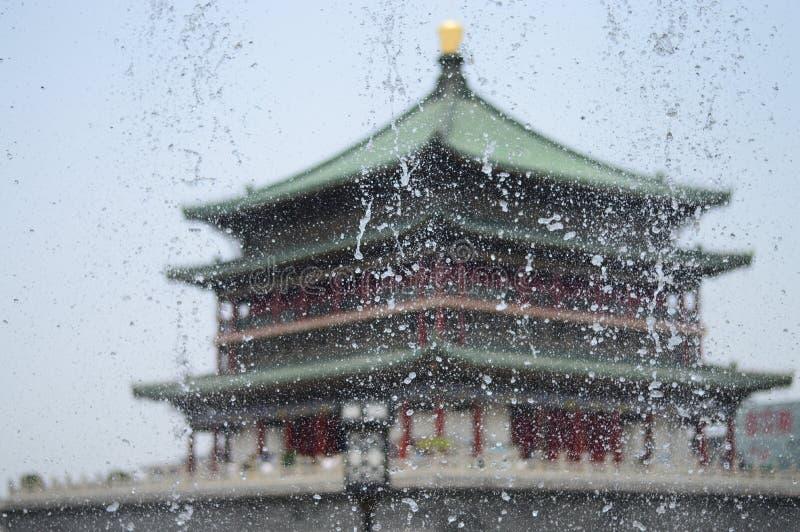 ` XI башня барабанчика расположено в древнем городе XI ` стоковые фото