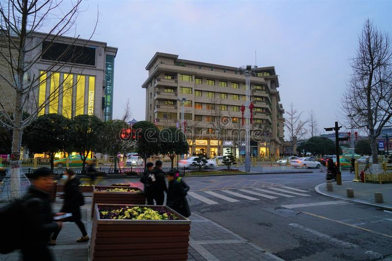 ` XI всход улицы стоковое изображение rf